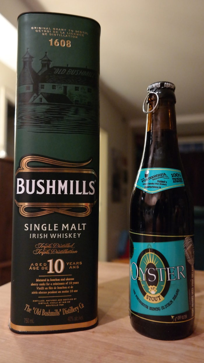 Double St. Patrick's Day Review – Bushmills Single Malt 10 Year Old and Porterhouse Oyster Stout
