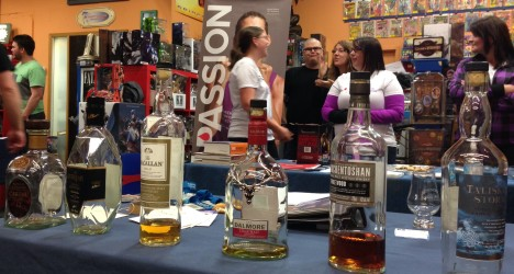 The whiskies from the Happy Harbor Tasting